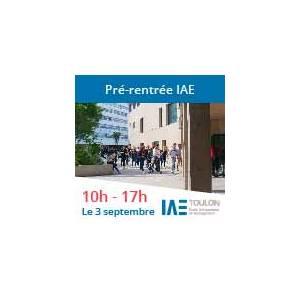 Pré-rentrée de l'IAE de Toulon